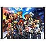 """1 X Kingdom Hearts 2 Final Mix Game Fabric Wall Scroll Poster """"21 X 16"""" Inches"""