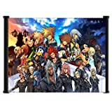 Kingdom-Hearts-2-Final-Mix-Game-Fabric-Wall-Scroll-Poster-21-X-16-Inches