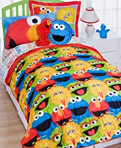 elmo chalk 5pc elmo twin bed in a bag set childrens bedding
