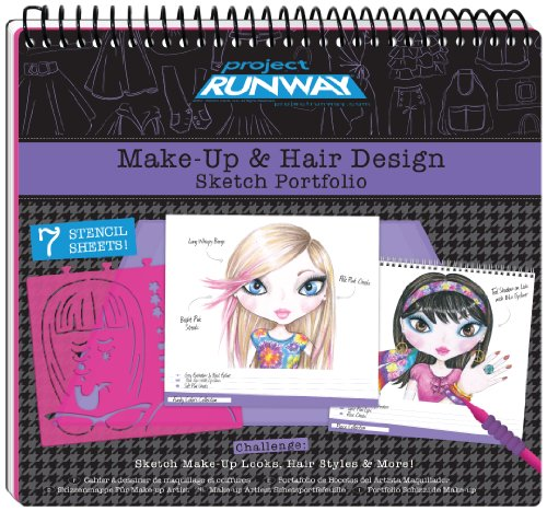 Fashion Angels Project Runway Make-Up Design Sketch Portfolio