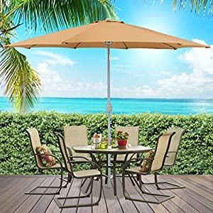 Best Choice Products® Patio Umbrella 9' Aluminum Patio Market Umbrella