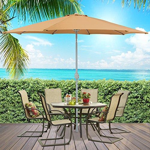 Best Choice Products® Patio Umbrella 9' Aluminum Patio Market Umbrella Tilt W/ Crank Outdoor