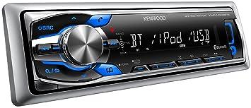 JVCKenwood KMR-M308BTE Autoradio marine Bluetooth Argent