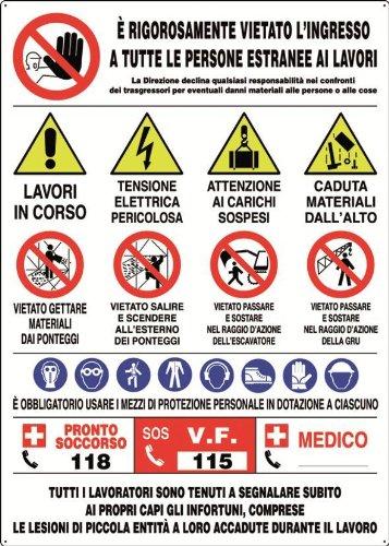CARTELLI P/CANTIERI INFO 21 SIMBOLI POLIONDA