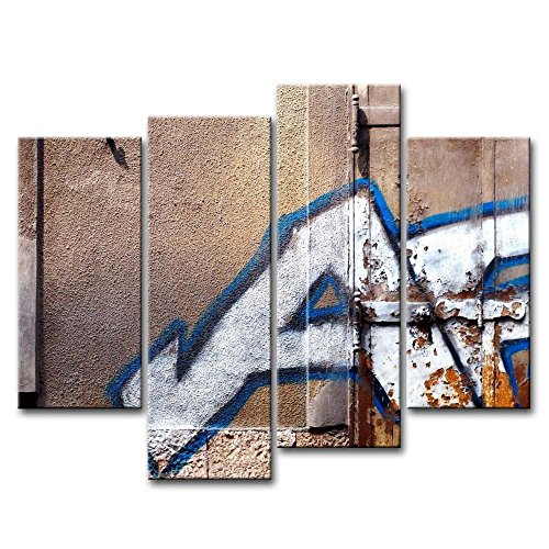 4 Piece Wall Art Painting City Graffiti Lettering Pictures Prints On Canvas City The Picture Decor Oil For Home Modern Decoration Print