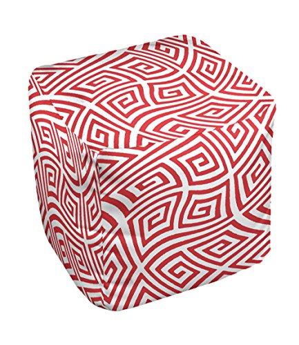 E by design FG-N9-Red-18 Geometric Pouf