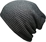 KBW-10-DGY-Heather-Slouchy-Beanie-Skull-Cap-Hat