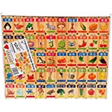 VIAHART Linguisticks 100 Piece Chinese English Language Learning Wooden Blocks