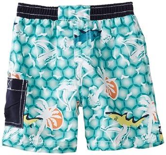 Floatimini Baby-Boys Infant Emerald Sea Swim Shorts, Green, 18-24 Months