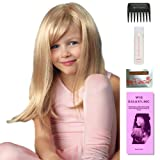 Miley (Childs Wig) by Amore, Wig Galaxy Hair Loss Booklet, 2oz Travel Size Wig Shampoo, Wig Cap, & Wide Tooth Comb (Bundle - 5 Items), Color Chosen: Creamy Blonde (Color: Creamy Blonde)