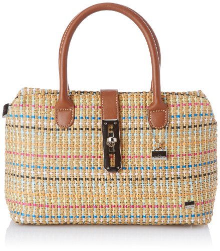 La Bagagerie Women's Shop Xpai Top-Handle Bag Beige Beige (Naturel/Bleu) Taille Unique