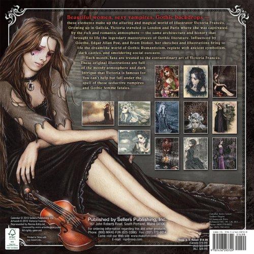 Libro The Gothic Art of Victoria Francés 2014 Calendar di