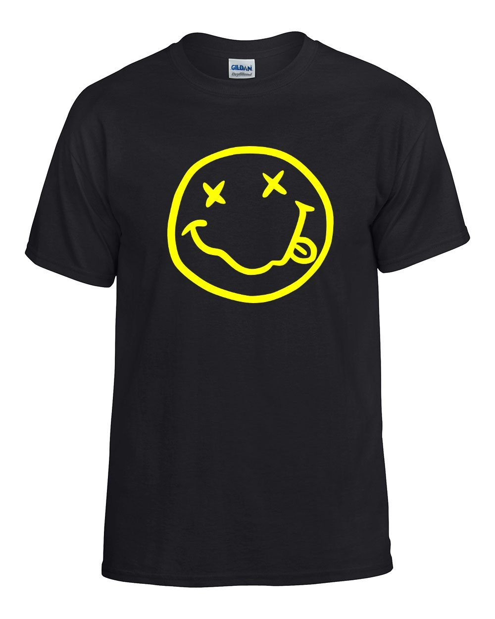 Nirvana Smiley T Shirt | Vintage Style 90's Design | Womens Black T-shirt 0