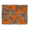 "Kess InHouse Vikki Salmela ""Blossom"" Orange Black Pet Dog Blanket, 40 by 30-Inch"