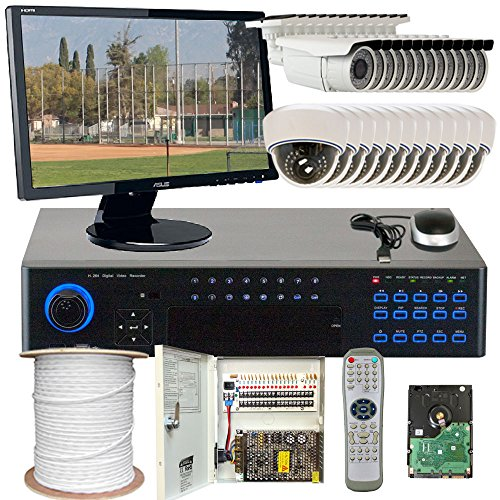 """Best Sale High End Professional 32 Channel H.264 960H Realtime Dvr Security Camera System With 24 X 1/3"""" Sony Super Had Ccd Ii Outdoor Camera, 700 Tv Lines, 2.8~12Mm Manual Zoom Lens. One Is 72 Ir Leds, 196 Feet Ir Distance And One Is 30 Ir Leds, 49 Feet"""