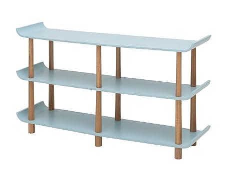 Living Moments 2130700701Retro Shelf 75x 129x 35cm, Blue