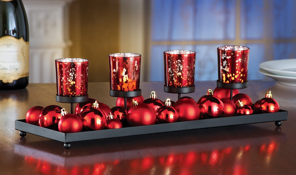 Red Festive Led Candlescape Holiday Decoration