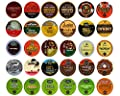 Bold Coffee Variety Sampler Pack for Keurig K-Cup Brewers, 30 Count by Crazy Cups