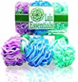 Top Rated - Premium Quality Loofah (6 Pack) by Lulu Essentials :: Lulu Luffas Are Designed Better, Larger & Last Longer than the Average Shower Sponge
