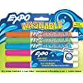 Expo Washable Fine Tip Dry Erase Markers, 6 Colored Markers