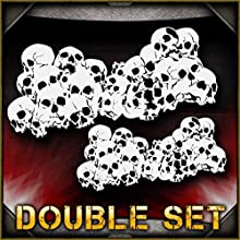 Skull Background 1 AirSick Airbrush Stencil Template