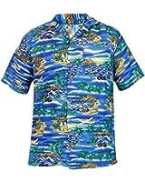 Mens Boys TrueFace Hawaiian Short Sleeve Summer Beach Printed Shirts S - 5XL Generous Fit