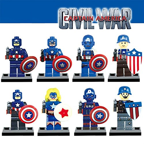 TEAM CAPTAIN AMERICA (8 MINI-FIGURES)
