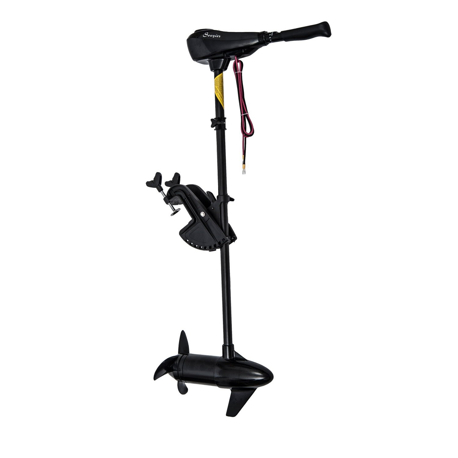 Outsunny 12V Transom Mounted 50lb Thrust Electric Fishing Boat Trolling Motor at Sears.com
