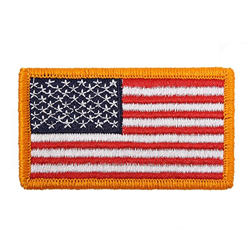 American Flag Patch Full Color With Hook And Loop Back