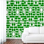 DeStudio Oval Square Tile Chalkboard Wall Decal, Size X Large & Color : GREEN
