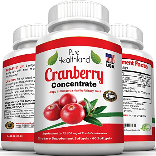 Cranberry-Concentrate-Supplements-Pills-for-Urinary-Tract-Infection-UTI-Equal-To-12600-mg-Pure-Fresh-Cranberries-Promote-Kidney-Urinary-or-Bladder-Health-for-Men-and-Women-No-More-Cranberry-Juice