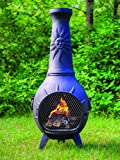 The-Blue-Rooster-Sun-Chiminea-with-Gas-in-Charcoal