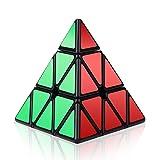 Roxenda Pyramid Cube, 3x3x3 Pyramid Speed Cube Triangle Magic Cube Puzzle (Color: Black)