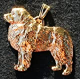 Great Pyrenees Dog 24k Gold Plated Pewter Pendant