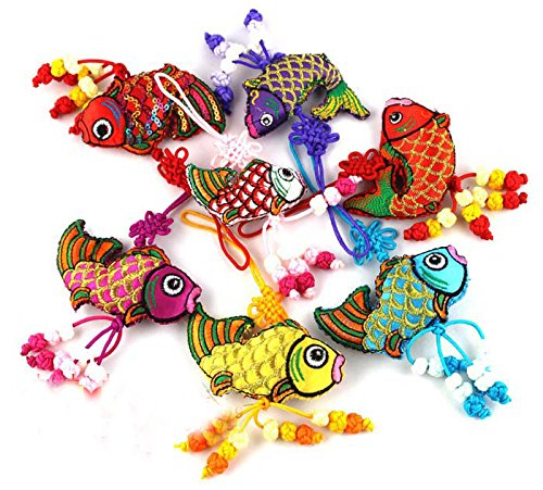 Generic Chinese Handmade Knot Silk Charms Home Decor Ornaments (fish) Pack of 10pcs (Chinese Fish compare prices)
