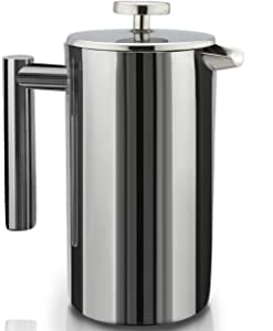 SterlingPro Double Wall Stainless Steel French Coffee Press Via Amazon