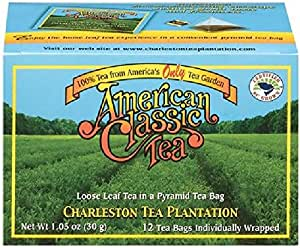 american classic tea box of 12 pyramid tea