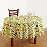 "Handmade Indian Home Décor Cotton Floral Print 86"" Round Tablecloth 6 Seater,ZRND03-1852"