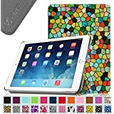 iPad Air 2 Case - Fintie SmartShell Case for Apple iPad Air 2 (iPad 6) 2014 Model, Stained Glass Mosaic Style Ultra Slim Lightweight Stand with Smart Cover Auto Wake / Sleep Feature, Black