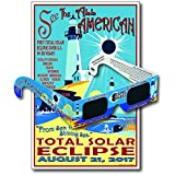 Eclipse Glasses for the 2017 Sea to Shining Sea Eclipse (5 Pack) - CE & ISO Certified - Includes Commemorative Poster