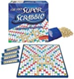 Super Scrabble Deluxe Edition W Tile Lock Gameboard Board Game by Winning Moves