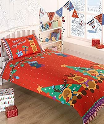 Rudolph Themed Christmas Single Duvet Set