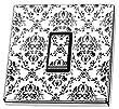 Vintage Black & White Pattern Light Switch Sticker vinyl cover skin