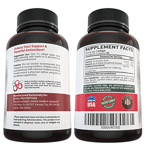 Cranberry-Maximum-Strength-Urinary-Tract-Support-Non-GMO-Gluten-Free-Antioxidant-Fight-Infection-Support-Immune-System-Concentrate-for-Bladder-Kidney-Health-Once-Daily-Softgels