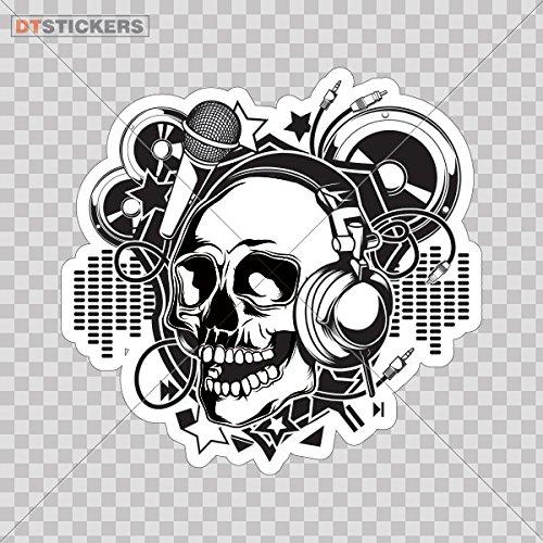 Sticker Skull Dj Monster Motorcycle Laptop durable Boat