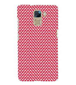 Red Chevron Cute Fashion 3D Hard Polycarbonate Designer Back Case Cover for Huawei Honor 7 :: Huawei Honor 7 Enhanced Edition :: Huawei Honor 7 Dual SIM