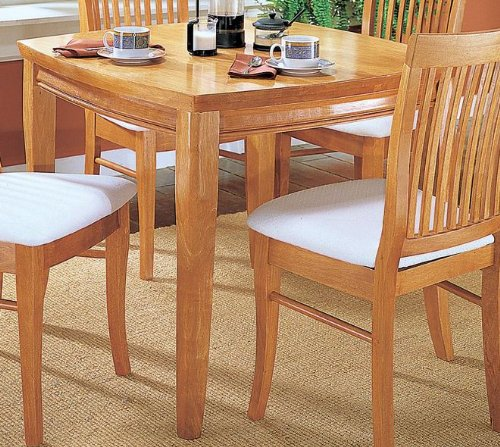 Homelegance Liz 3 Piece Dining Room Set in Oak