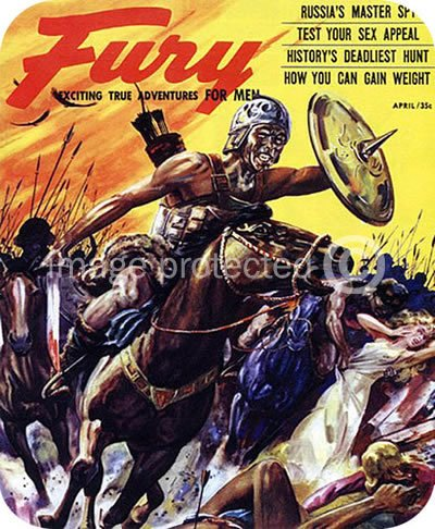 Fury Mag Russias Master Spy Vintage Pulp Art MOUSE PAD
