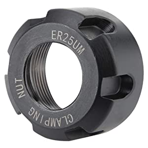 ER25 Clamping Nuts Metal Collet Nut Chuck Holder Lathe Machine Tools Dynamic Balancing Nut Extras Swapping Precision Collets M32(M321.5-Black) (Color: Black, Tamaño: M32*1.5)