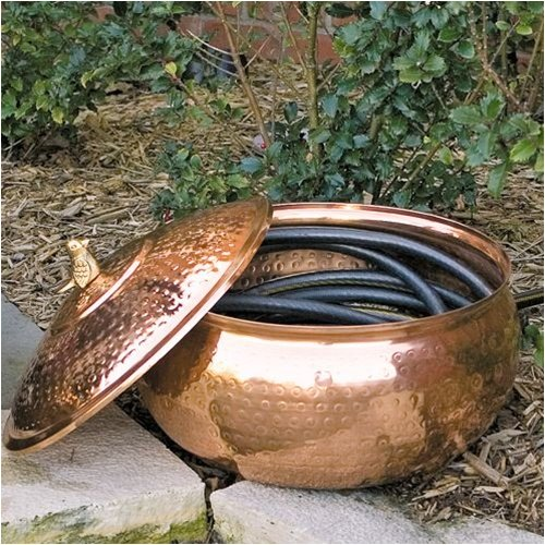Garden Hose Pipe Copper Hose Storage Pot Copper Garden Hose Pot